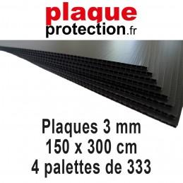 4 palettes 150x300 cm - 3mm