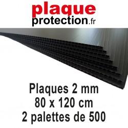 2 palettes 80x120 cm - 2mm