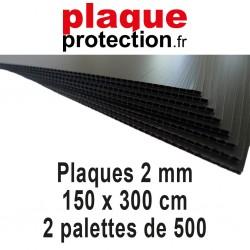 2 palettes 150x300 cm - 2mm