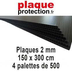 4 palettes 150x300 cm - 2mm